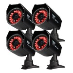 4PK Hi-Resolution 600 TVL Security Cameras with 50FT of Night Vision - Refurbished