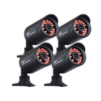 Night Owl Security Products 4-pack Hi-Resolution 650 TVL Security Cameras with 50FT of Night Vision - Refurbished CAM-4PK-650-R