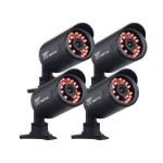 4-pack Hi-Resolution 650 TVL Security Cameras with 50FT of Night Vision - Refurbished