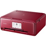 PIXMA TS8120 - Multifunction printer - color - ink-jet - 8.5 in x 11.7 in (original) - Legal (media) - up to 15 ipm (printing) - 200 sheets - USB 2.0, Bluetooth, Wi-Fi(n) - red with  InstantExchange