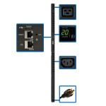 3.2–3.8kW Single-Phase Switched PDU with LX Platform Interface, 200–240V Outlets (20 C13 & 4 C19), C20/L6-20P, 0U, TAA