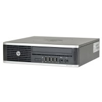 HP Inc. Compaq 8200 Elite Intel Core i3-2100 Dual-Core 3.10GHz Ultra Small Form Factor PC - 4GB RAM, 250GB HDD, DVD-ROM, Integrated Graphics, Gigabit Ethernet, Windows 10 Professional 64-bit - Refurbished PC2-0956