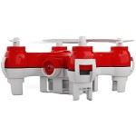 JETJAT Nano-C Camera and Video Drone with expandable microSD slot - Red
