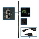1.9kW Single-Phase Switched PDU with LX Platform Interface, 120V Outlets (24 5-15/20R), 10 ft. Cord w/L5-20P, 0U, TAA