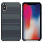 SoftTek Case for iPhone X - Blue Stripes