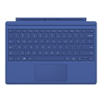Surface Pro 4 Type Cover - Keyboard - with trackpad, accelerometer - backlit - English - North American layout - blue - for Surface Pro 4