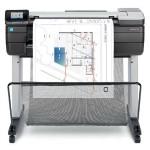"DesignJet T830 24"" Multifunction Printer - Color, Inkjet, 26 sec/page on A1/D, 81 A1/D Prints Per Hour, 2400x1200 dpi, Print, Scan, Copy, Gigabit Ethernet, WiFi"