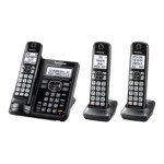 KX-TGF543B - Cordless phone - answering system - Bluetooth interface with caller ID/call waiting - DECT 6.0 - black + 2 additional handsets