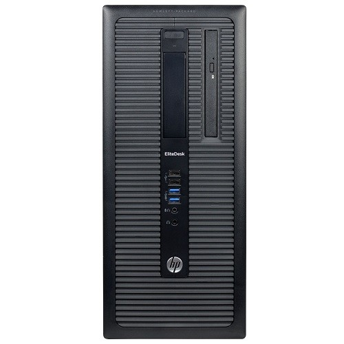 EliteDesk 800 G1 Intel Core i5-4570 Quad-Core 3.20GHz Desktop PC - 16GB DDR3 SDRAM, 2TB 7200rpm SATA, DVD-ROM, Microsoft Windows 10 Pro 64-bit - Refurbished