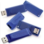 16GB USB Flash Drive - 16 GB - USB - Blue - 5/Pack