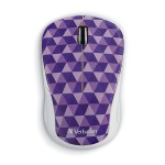 Wireless Notebook Multi-Trac Blue LED Mouse - Diamond Pattern Purple - Blue LED - Wireless - USB Type A - Notebook - Scroll Wheel - Diamond Pattern Purple