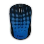 Wireless Notebook Multi-Trac Blue LED Mouse - Dot Pattern Blue - Blue LED - Wireless - USB Type A - Notebook - Scroll Wheel - Dot Pattern Blue