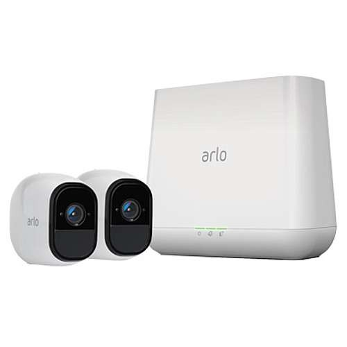 Arlo (Certified Refurbished) Pro Smart Security System- 2x Camera Kit for indoor or outdoor with rechargeable battery and Night Vision