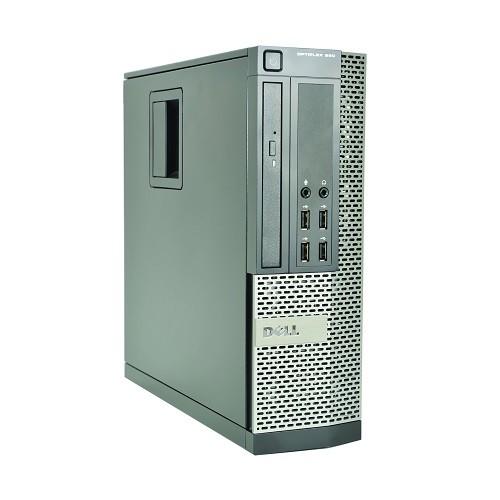 Optiplex 990-SFF Intel Core i7-2600 Quad-Core 3.4GHz Desktop PC - 8GB DDR3, 500GB SATA HDD, Integrated Graphics, 10/100/1000 Ethernet, DVD-ROM, New black generic 107 key USB keyboard and mouse, Microsoft Windows 10 Pro 64-bit - Refurbished