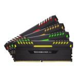 Vengeance RGB - DDR4 - 64 GB: 4 x 16 GB - DIMM 288-pin - 3000 MHz / PC4-24000 - CL16 - 1.35 V - unbuffered - non-ECC - black