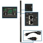 1.9kW Single-Phase Switched PDU, LX Platform, Outlet Monitoring, 120V Outlets (24 NEMA 5-15/20R), L5-20P Plug, 0U, TAA