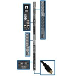 10kW 3-Phase Switched PDU, LX Interface, 200/208/240V Outlets (24 C13/6 C19), LCD, NEMA L21-30P, 1.8m/6 ft. Cord, 0U 1.8m/70 in. Height, TAA