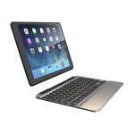 Slim Book - Keyboard and folio case - backlit - Bluetooth - English - US - black keyboard, black case