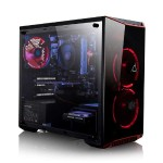 CLX SET RXE7900M Gaming PC, AMD Ryzen 3 1200 3.10GHz Quad-Core Processor -  8GB DDR4 Memory, AMD Radeon RX 560 (2GB GDDR5) Graphics, 120GB SSD, 1TB HDD, Windows 10 Home, Red