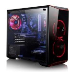 CLX SET GXE7901M Gaming PC, Intel Core i3-8100 3.60GHz Quad-Core Processor -  8GB DDR4 Memory, NVIDIA GeForce GTX 1050 Ti (4GB GDDR5) Graphics, 120GB SSD, 1TB HDD, Windows 10 Home, Red