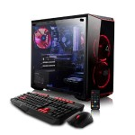 CLX SET GXM7902M Gaming PC, Intel Core i5-8400 2.40GHz 6-Core Processor -  16GB DDR4 Memory, NVIDIA GeForce GTX 1050 Ti (4GB GDDR5) Graphics, 120GB SSD, 1TB HDD, Windows 10 Home, Red