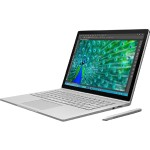 "Surface Book - Tablet - with keyboard dock - Core i5 6300U / 2.4 GHz - Win 10 Pro 64-bit - 8 GB RAM - 128 GB SSD - 13.5"" touchscreen 3000 x 2000 - HD Graphics 520 - Wi-Fi - silver - kbd: English - North America"