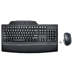 Pro Fit Wireless Comfort Keyboard and Mouse Set - Black