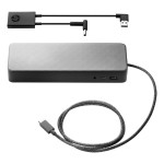 USB-C Universal Dock with 4.5 mm and USB Dock Adapter - for EliteBook 1040 G4; EliteBook x360; ProBook 430 G5, 450 G5, 470 G5; ZBook 14u G4; ZBook x2 - Black