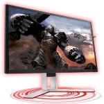 "27"" Gaming AGON series LED LCD Monitor - 2560x1440, 16:9, 1 ms, 16.7 Million Colors, 350 Nit, 50,000,000:1, WQHD, Speakers, DVI, HDMI, VGA, DisplayPort, USB, 47 W - Black, Red"