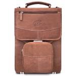 Premium Leather Vertical Briefcase - Vintage