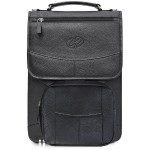 MacCase Premium Leather Vertical BriefCase Full Options - Black