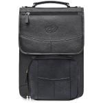 MacCase Premium Leather Vertical BriefCase w/BP Option - Black