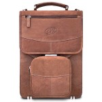 Premium Leather Vertical BriefCase w/BP Option - Vintage