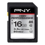 16GB High Performance SDHC Card High Performance SDHC Card - Black
