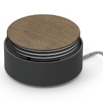 Eclipse Charger - 3-Port High-Speed USB Charger with Cable Management - Black/Walnut Wood