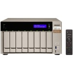 8-bay NAS/iSCSI IP-SAN, AMD R-Series Quad-core 2.1GHz, 8GB RAM, 10G-ready