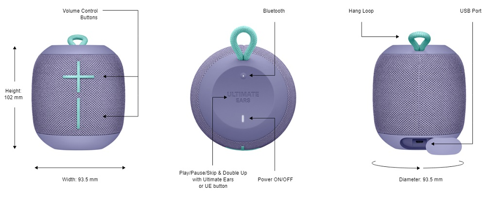 58cb1dca8ea WATERPROOF - Waterproof – IPX7 rated  WONDERBOOM can be immersed in liquid  up to 1 m for up to 30 minutes.