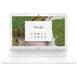 "Chromebook 14-ca050nr - Celeron N3350 / 1.1 GHz - Chrome OS - 4 GB RAM - 32 GB eMMC - 14"" IPS 1920 x 1080 (Full HD) - HD Graphics 500 - 802.11ac, Bluetooth -  finish in snow white with a brushed pattern - kbd: US"