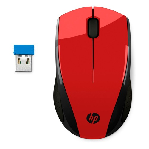 PCM   HP Inc , X3000 - Mouse - optical - 3 buttons - wireless - 2 4 GHz -  USB wireless receiver - red - for OMEN by 15, 17