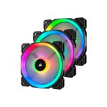 LL Series LL120 RGB Dual Light Loop - Case fan - 120 mm - white, blue, yellow, red, green, orange, violet - 4.7 in (pack of 3)