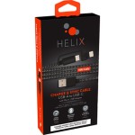 10ft. Helix USB-A to USB-C Cable w/ Micro USB Adapter (Black)