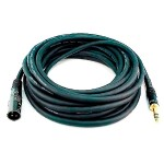 25ft Premier Series XLR Male to 1/4in TRS Male Cable, 16AWG (Gold Plated)