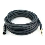 35ft Premier Series XLR Male to 1/4in TRS Male Cable, 16AWG (Gold Plated)