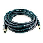 25ft Premier Series XLR Female to 1/4in TRS Male Cable, 16AWG (Gold Plated)