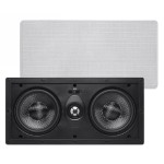 Alpha In-Wall Speaker Center Channel Dual 5.25-Inch Carbon Fiber 2-way (single)