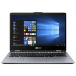 "VivoBook Flip 14 TP410UA DS71T Flip Design 8th Gen Intel Core i7-8550U 1.8GHz Notebook PC - 8GB RAM, 1TB Hybrid Drive, 14"" touchscreen 1920 x 1080 (Full HD), UHD Graphics 620, 802.11ac, Bluetooth, Microsoft Windows 10 Home 64-bit"