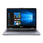 "VivoBook Flip 14 TP410UA DS52T - Flip design 8th Gen Intel Core i5 8250U / 1.6 GHz - Win 10 Home 64-bit - 8 GB RAM - 1 TB Hybrid Drive - 14"" touchscreen 1920 x 1080 (Full HD) - UHD Graphics 620 - 802.11ac, Bluetooth - Metal Star Gray"