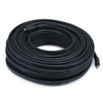100ft Premium 3.5mm Stereo Male to 3.5mm Stereo Female 22AWG Extension Cable (Gold Plated) - Black