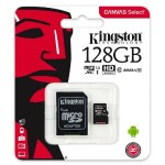 128GB microSDXC Canvas Select 80R CL10 UHS-I Card + SD Adapter