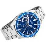Men's Multifunction Sports Watch - Blue Dial/Stainless Steel